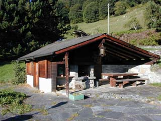 The Barbecue of the Chalet l'Hermitage