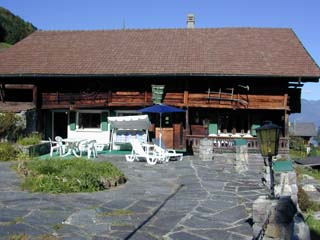 The Front Terrace of the Chalet l'Hermitage