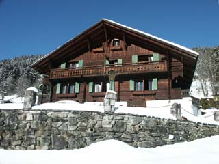 The Chalet l'Hermitage in Winter